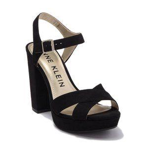 Anne Klein Open Toe / Strap Sandals Black